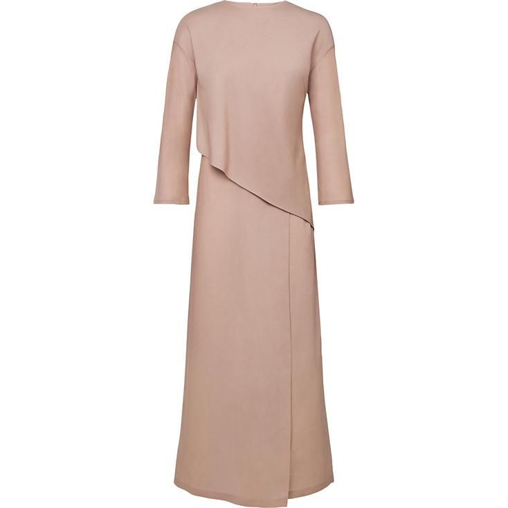 Women's Tencel 3/4 Sleeve Maxi Dress   UNIQLO