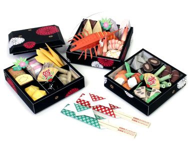 Japanese New Year Food Papercraft - Osechi | Papercraft Paradise | PaperCrafts | Paper Models | Card Models