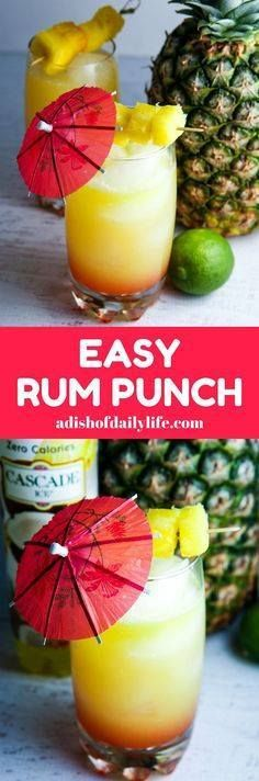 Youll feel like you Youll feel like youre on an...  Youll feel like you Youll feel like youre on an tropical vacation when youre sipping this easy Rum Punch with pineapple and coconut! Perfect cocktail recipe for summer entertaining! AD Cascade Ice Recipe : http://ift.tt/1hGiZgA And @ItsNutella  http://ift.tt/2v8iUYW