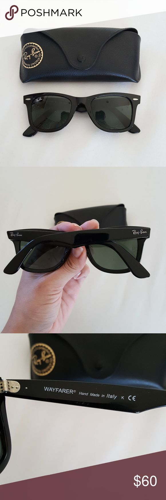 Authentic Wayfarer Ray-Ban Unisex Great condition, 100% authentic. Size 50-22. Don't need them anymore, I just got a new aviators :-) Case included. Fast shipper! Ray-Ban Accessories Sunglasses