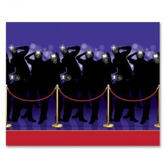 "Wanddeko ""Roter Teppich Paparazzi"" 122 x 914 cm, 17.99€"