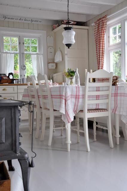 White painted chairs and freshly laundered tablecloths. Memories