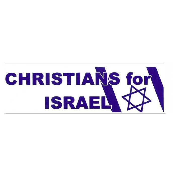 Christians for israel bumper sticker