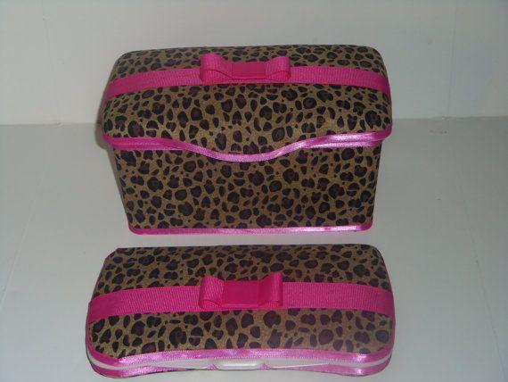2 pc cheetah leopard Hot Pink Baby Diaper Wipe case by pinkbandit2, $18.99