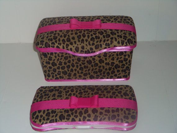 2 pc cheetah leopard Hot Pink Baby Diaper Wipe case by pinkbandit2, $18.99