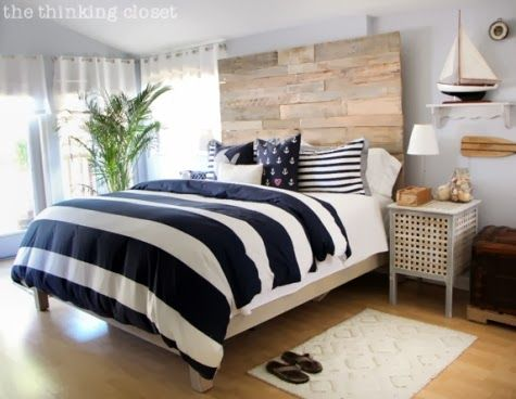 A Hip DIY Nautical Bedroom with a Surf Vibe