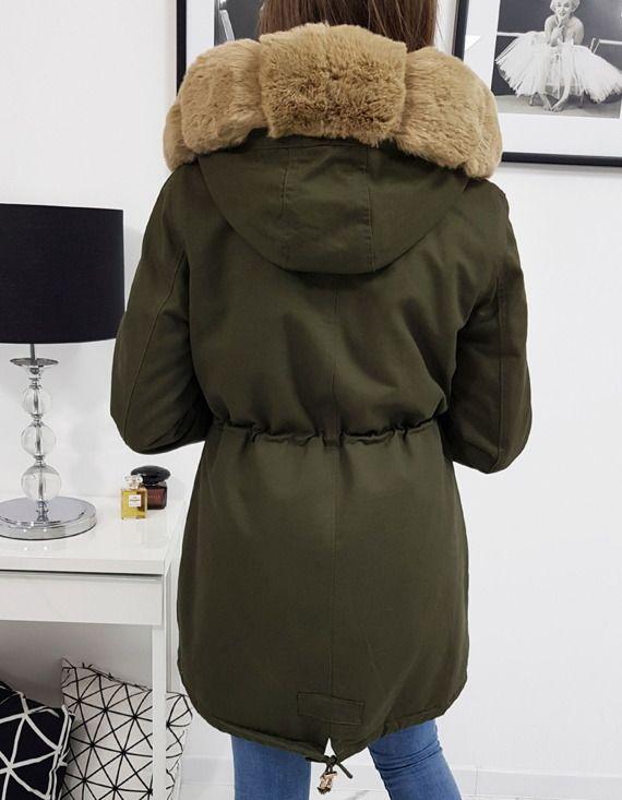 Kurtka Parka Damska Zimowa Beauty Oliwkowa Ty0890 Winter Jackets Jackets Fashion