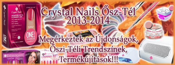 Crystal Nails 2013/14 Ősz-Tél - Termék újítások, trendszínek, legújabb technikák és azok eszközei!  http://mukoromplaza.com/Crystal-Nails-2013-2014-osz-Tel-ujdonsagok
