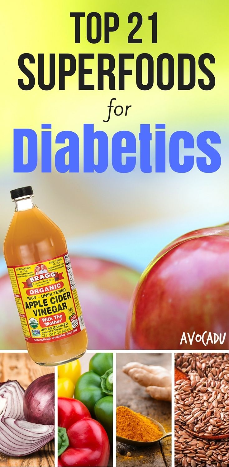 The best superfoods for diabetics are the ones that are high in healthy nutrients and also keep blood sugar down and/or level. Eat more of these healthy foods if you suffer from type II diabetes! http://avocadu.com/top-21-superfoods-diabetics/ #weightlossrecipes