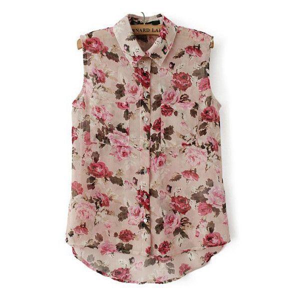 Pink lace print sleeveless shirt dress