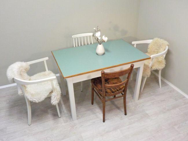 frisch aus der retrosalon werkstatt komplett berarbeiteter esstisch tischplatte mit. Black Bedroom Furniture Sets. Home Design Ideas