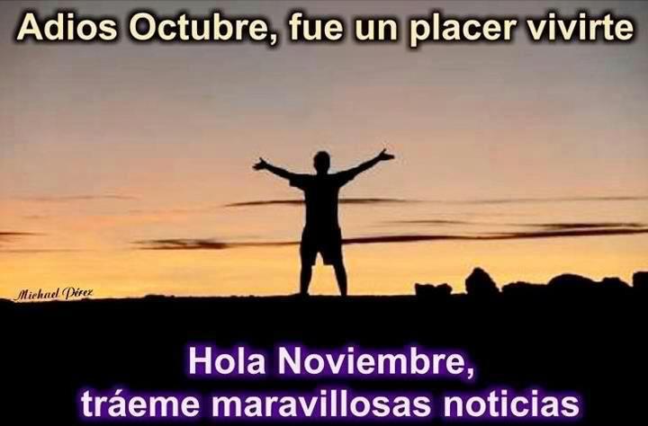 Imágenes de adiós octubre bienvenido noviembre – Imagenes Top