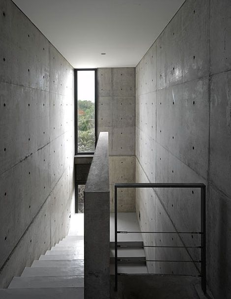 Stairway of a house in Sri Lanka designed by Tadao Ando.
