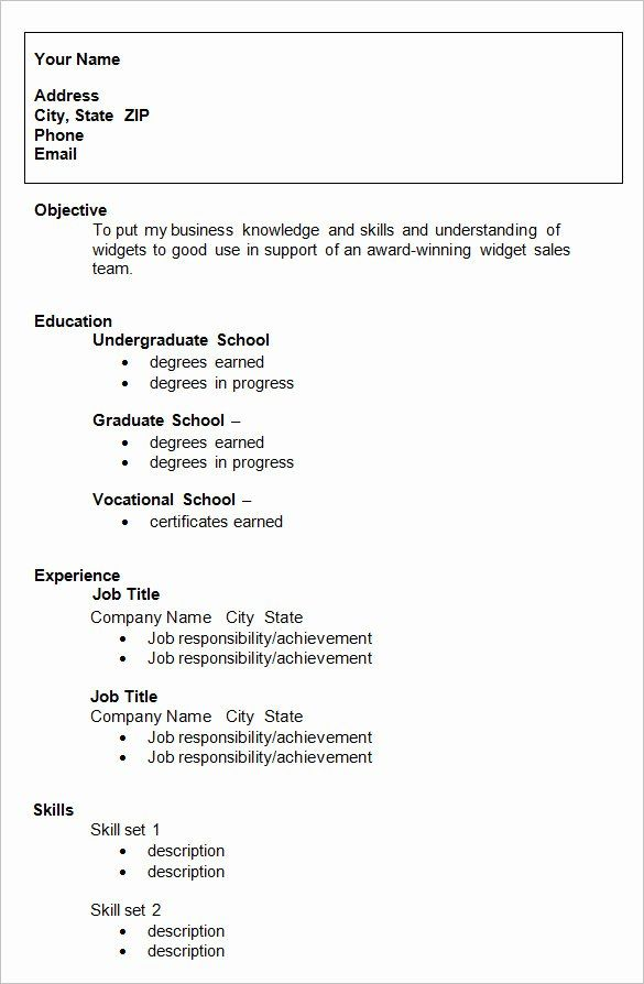 25 Resume Template College Student In 2020 With Images