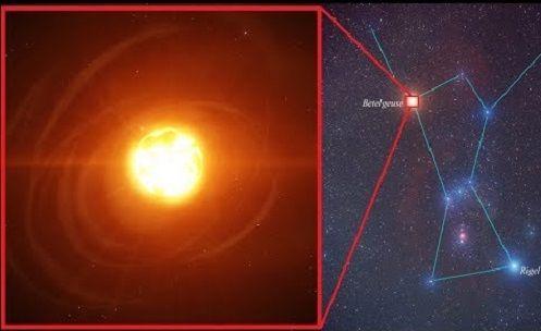 """A Grande Estrela Betelgeuse 900 vezes maior que o nosso Sol Seria um """"PERIGO"""" para Terra?"""