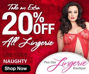 Extra 20% Off All Plus Size Lingerie And Free Shipping On Orders Over $75.00!! Click the link for your coupon and/or for all specials visit the main page www.DragonflyKingdom.com/apps/blog