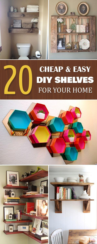 diytotry: 20 Cheap & Easy DIY Shelves For Your ...