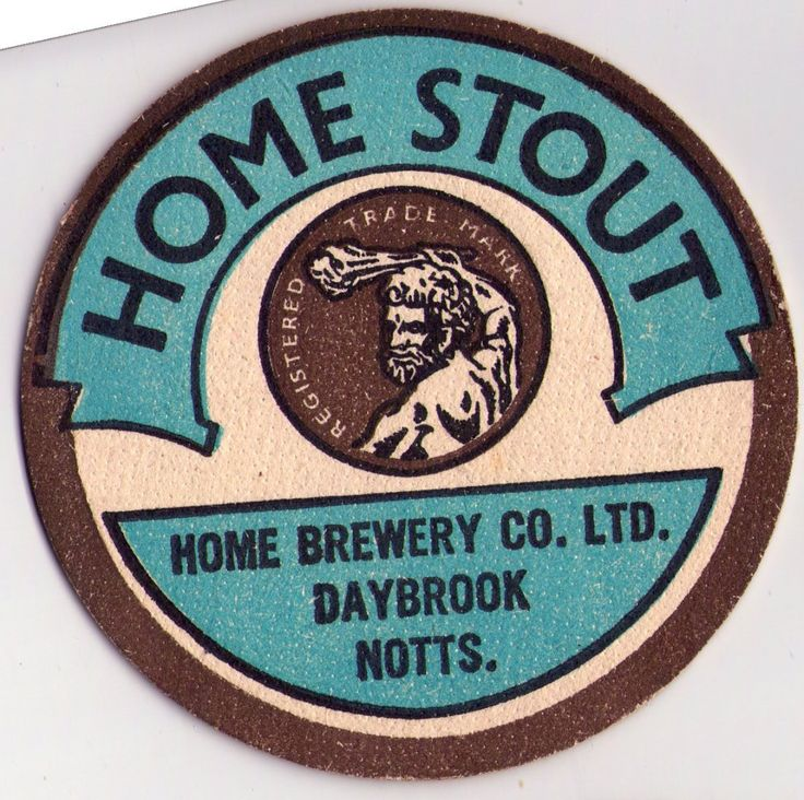 British Beer mats, Home Brewery, Notts, Home Stout