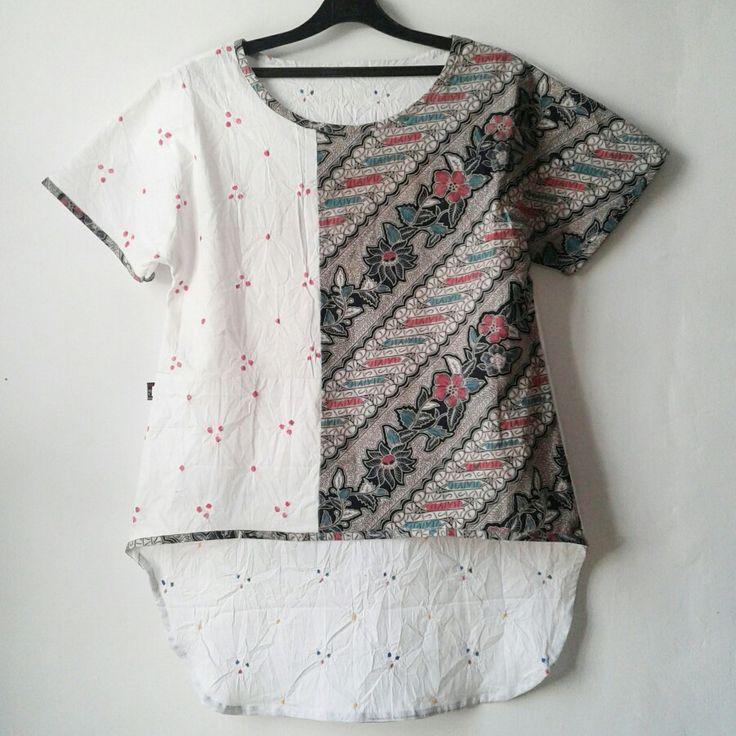 jumputan mix lawasan batik for casual look