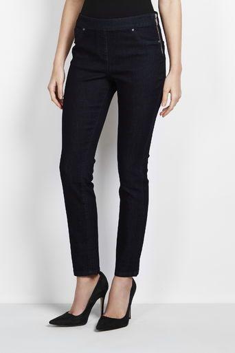 Petite Indigo Side Zip Trouser