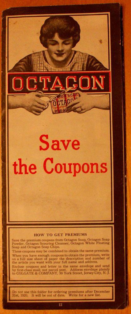 Original 1920 Octagon Soap Premium Brochure Plus #OctagonSoap