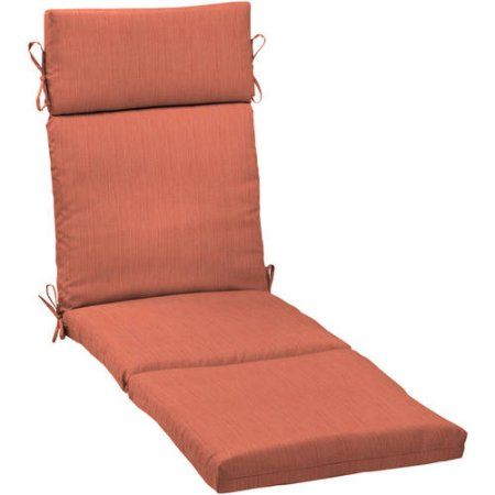 Better Homes and Gardens Outdoor Patio Chaise Lounge Cushion, Orange