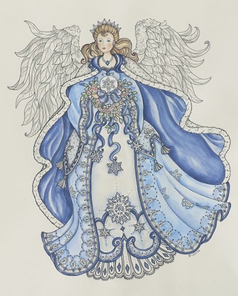 blue & white ~ Angel by Shelly Rasche