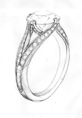 diamond pencil sketch - photo #33