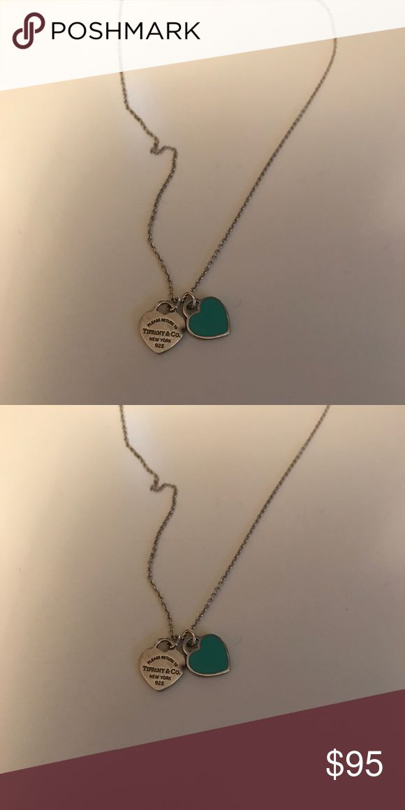 Tiffany double heart necklace Tiffany teal and silver heart necklace Tiffany & Co. Jewelry Necklaces