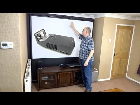 Assembling my Hidden Home Cinema with the LG PF1000U Minibeam Ultra Short Throw Projector (REVIEW) - YouTube