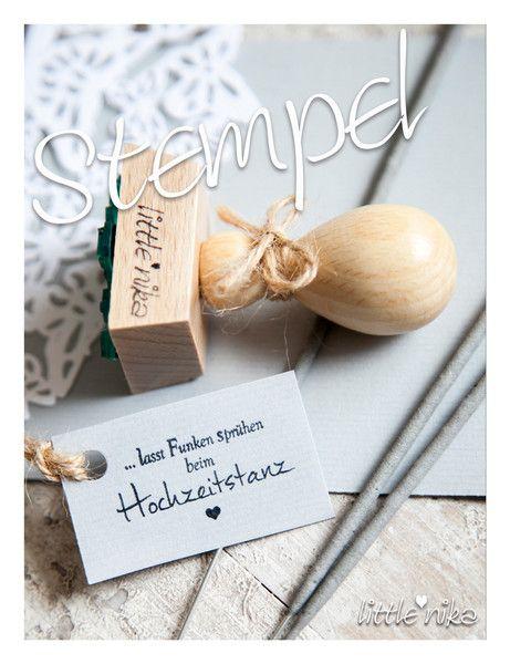 Einladungskarten - Stempel Hochzeit * Wunderkeze * - ein Designerstück von littlenika bei DaWanda