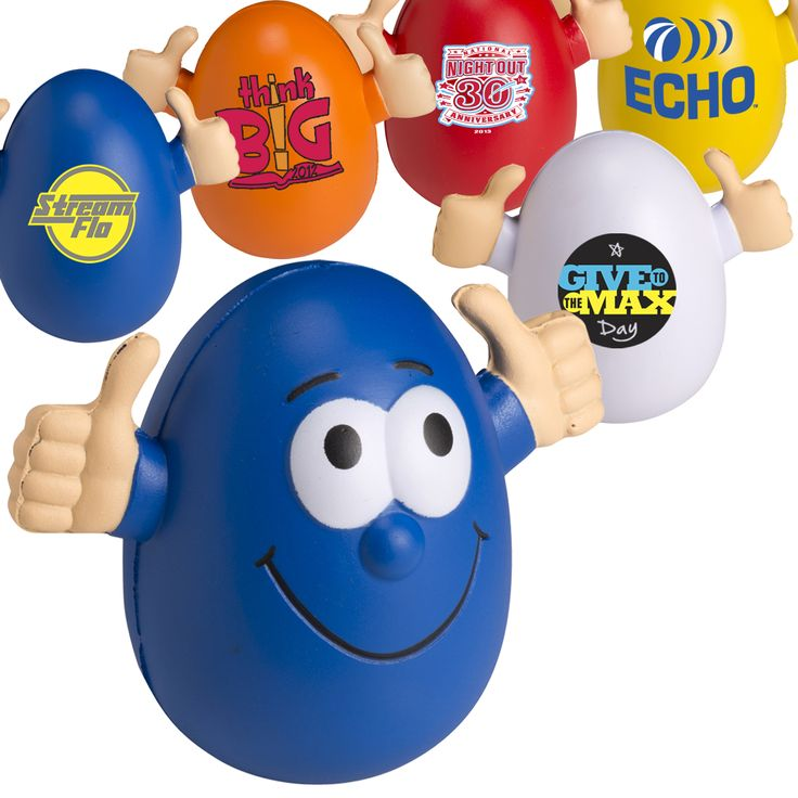 Goofy wobbly personalized stress ball egg