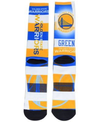For Bare Feet Draymon Green Golden State Warriors Pro Stripe Player 308S Crew Sock - Blue L