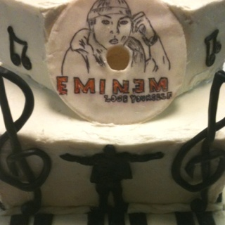 Eminem CD cake