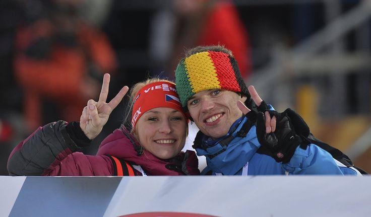 Michal Šlesingr při střelbě ve stoje ve sprintu SP v Novém Městě na Moravě