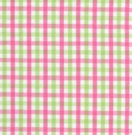 Fabric Finders, Inc. #T27 Pink/Green Check