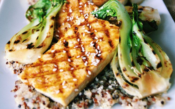 <p>These tofu steaks are grilled until browned on both sides and then brushed with a sticky, citrusy, and spicy orange-ginger glaze</p>