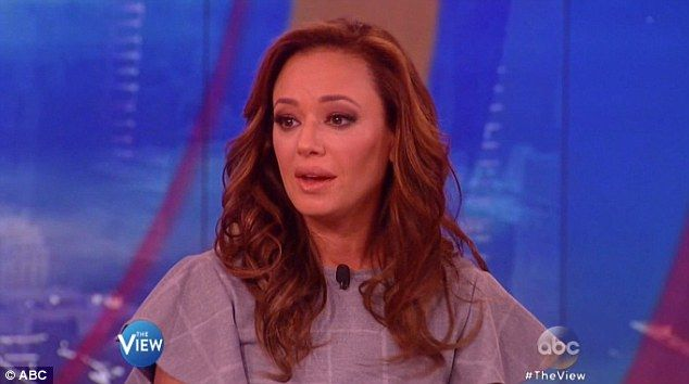 Appearance:Leah Remini appeared on The View Tuesday where Joy Behar read from her book Troublemaker
