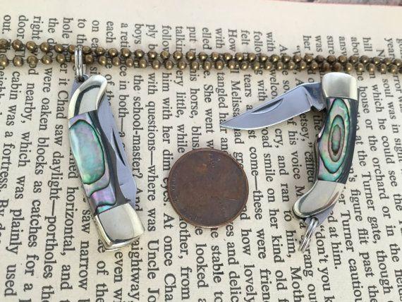 Miniature Pocket Knife Necklace Charm by KaysvilleCraftSupply