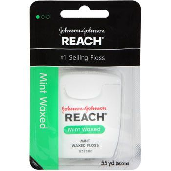 Clean between your teeth for optimal oral health! Reach® dental floss has a refreshing minty taste and helps remove plaque with regular use. Great for care packages and for resale in gift shops and co
