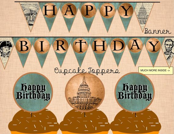 Washington D.C. Presidents Birthday Party Package by InstaThemes (Only $10)