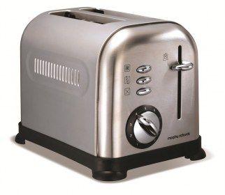 Tostapane Morphy Richards Accents 44328 in acciaio spazzolato - Tostapane 2 fette. Controllo variabile della cottura.