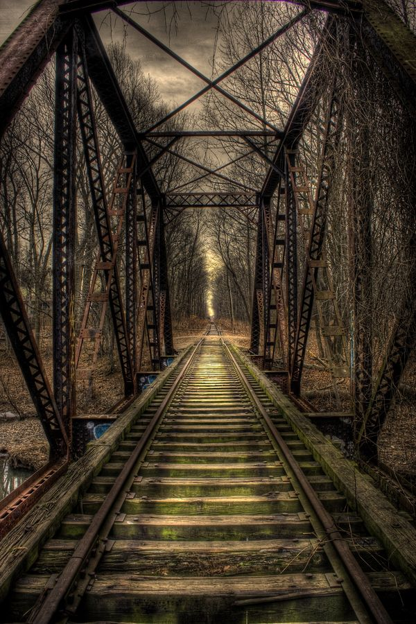 Abandoned Bridge (HDR) by Keith  Dobbs