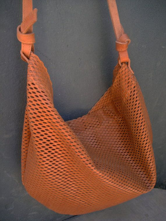 Boho shoulder tote bag leatherhandmade by byCACHE on Etsy