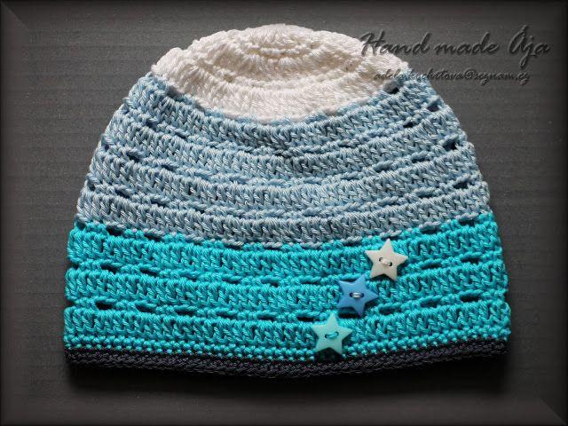 Crochet with love - Hand made Ája: Jarní čepička pro Ríšu :)