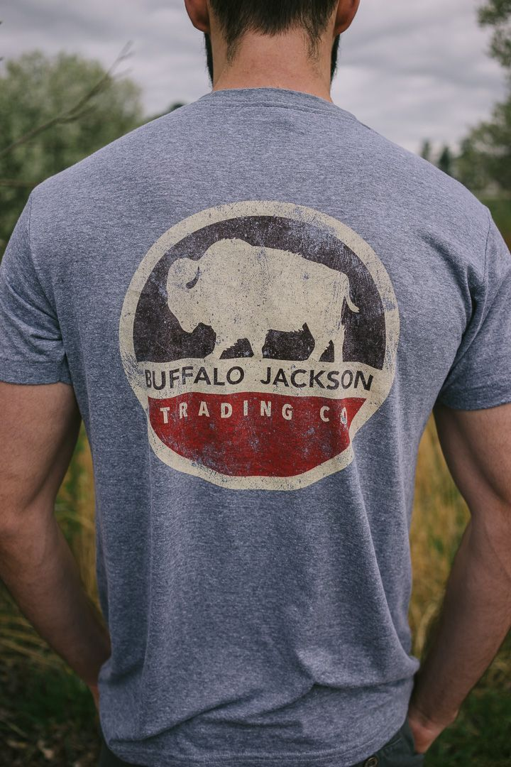 Buffalo Jackson retro graphic tee. Short sleeve men's t-shirt with that broken in, super soft feel and worn in look.