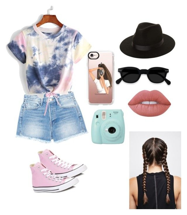 """""""Untitled #9"""" by izzyvb on Polyvore featuring Converse, Frame, Lack of Color, Lime Crime, Fujifilm and Casetify"""