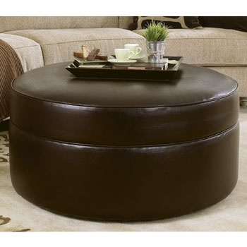 106 Best Ottoman Coffee Tables Images On Pinterest Home Ideas. Round Brown  Leather ...