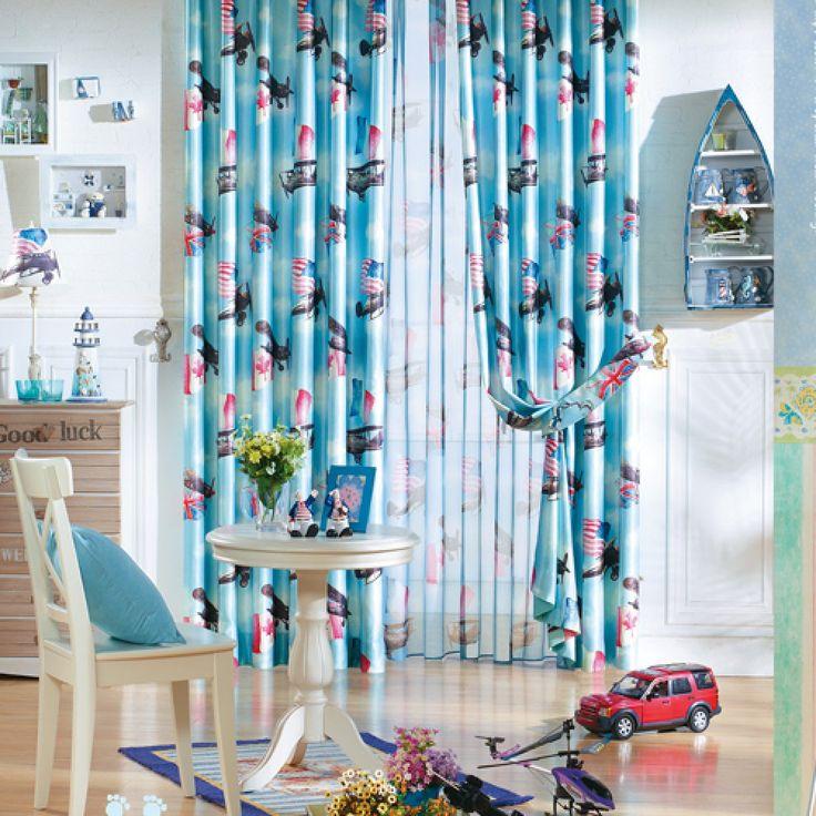 Sailing Mediterranean Blue Kids Curtains  #kids #curtains #homedecor #nursery #custommade