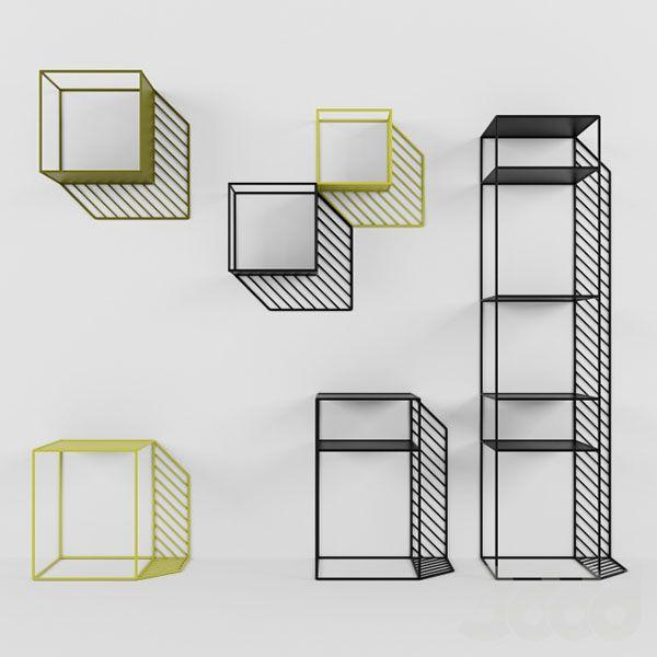 Etagères « Sunny » en métal laqué, design Dmitry Kozinenko, prix sur demande